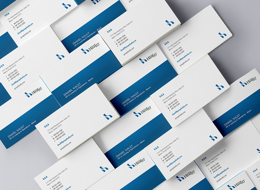 The Heafey Group Business Card Design | Creativo Miami Inc